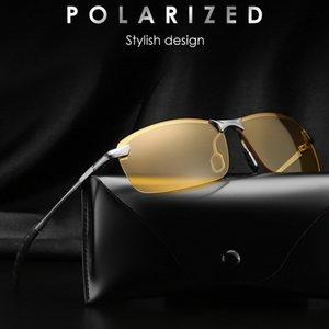 Night Vision Óculos Homens óculos polarizados motriz para Unisex Polaroid Goggles Glare Reduzir raios aro amarelo Lense