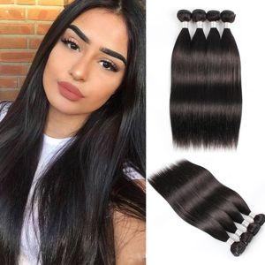 Bobbihair 1KG vague droite vague de corps non-remy brésilien Cheveux naturels Couleur 3 ou 10 Bundles / Lot gros Prix