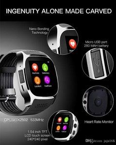 T8 Bluetooth Смарт Часы с камерой Facebook Поддержка SIM карт TF Зов Спорт смарт Watche для IOS Android смарт носимого технологии с коробкой