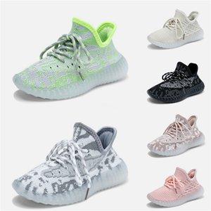 2020 bebê miúdo miúdos argila V2 Running Shoes Kanye West Blakc estática 3M reflexiva Zebra Beluga 2,0 Boy menina do esporte das sapatilhas Tim Trainers 28-3 # 63