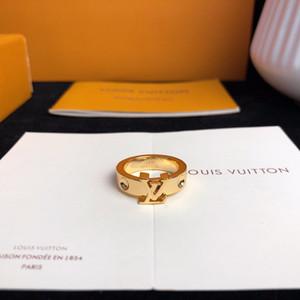 Новые 18K золотые кольца для женщин мужчины ювелирные изделия мода роскошные качественные кольца мужские серебряные золотые розовые золотые кольца женские классические аксессуары с коробкой