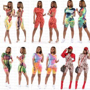 Moda camisa de dos piezas Set del chándal de las mujeres ropa de verano superior de T y del motorista cortos chándales de deporte Trajes delgado S-3XL E31211