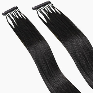 확장 6D 표피 정렬 머리에 6D 머리 확장 레미 인간의 머리 클립 스트레이트 재 스타일 염색 표백 자연 색상 Sliky 할 수있다