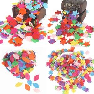 100pcs Flower Heart Butterfly Non-Woven Felt Fabric Cloth Felts DIY Bundle For Sewing Dolls Scrapbook DIY Craft Supplies