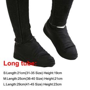 1 par de borracha reutilizáveis látex impermeável chuva Sapatos Covers antiderrapante Chuva Bota motocicleta bicicleta Overshoes Calçados Acessórios