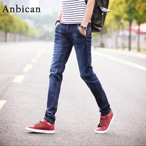 Anbican 2020 Весенняя мода Тонкий джинсы Мужчины Полная длина прямой Карманы Натяжные Джинсы Brand New Male Тощий Размер 27-36
