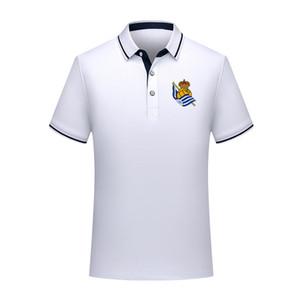 camicia di Real Sociedad estate di calcio di polo di modo del cotone versione tailandese di qualità uomo breve manicotto jers formazione camicia di uomini risvolto di polo di calcio di polo