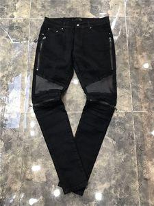 Новое Прибытие 2020SS Мужские AM-Джинсы Мода Высокое Качество Удобные Мужские Повседневные Джинсы Брюки Длинные Брюки прямые Простые дырочные джинсы 29-40