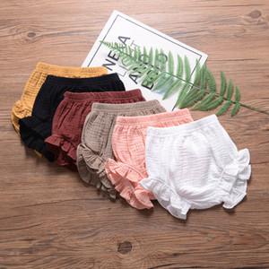 Fille Pantalons Casual pain été solide Casual loose taille élastique Mid Shorts Enfants Loisirs Vêtements pour les filles Vêtements bébé été 1-3T coton