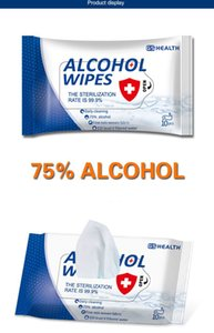 Trasporto libero al mercato Usa E Getta salviette alcol in magazzino dalla Cina produttori di buona qualità mano Antibatterico salviettine umidificate Grossista