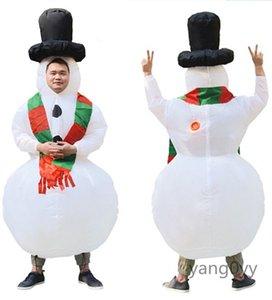 Costume gonflable Snowman mascotte Costume Costumes Cosplay Party Dress Tenues Vêtements Publicité Carnaval de Noël Adultes