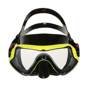 Uomo Donna Protezione antiappannamento Maschera da sub ad una finestra Maschera da snorkeling Scuba Swimming