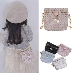 2019 Fashion Girls Kids Bags Pearl Shoulder Bag Princess Mini Handbag Crossbody Bag 4 Colors