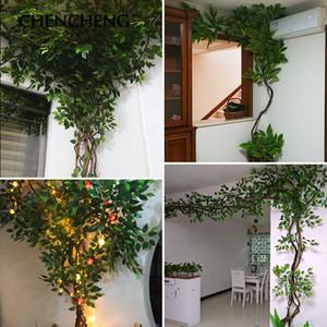CHENCHENG 12pcs / lot Dekoratif leavesArtificial yaprak dekorasyon sahte plastik ağaç dalları simülasyon ipek çiçek düğün bırakır