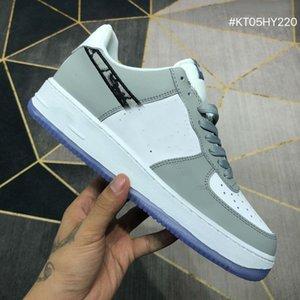 Оптовые Дешевые 1 High OG Gray 2020 Mens Basketball обуви Кроссовки Кроссовки 1S тиснение на верхнем днище корзины Кристалла