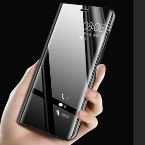Smart Specchio Flip Phone caso per il Huawei Honor 8X P30 P20 Lite Mate 20 10 Pro Nota 10 P Smart Z Y5 Y6 Y7 Y9 Prime 2019 Vista copertine