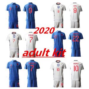 2020 إنكلترا عدة الكبار لكرة القدم بالقميص ROONEY STERLING VARDY KANE DELE البالغ KIT السراويل الجوارب JERSEY AWAY منزل رجل قميص كرة القدم أطقم SHIRT