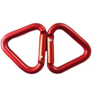 Big s 5,4cm triangulaires Carabiners mousquetons boucles de verrouillage en aluminium mousqueton porte-clefs crochet métallique en alliage d'aluminium extérieure aluminium