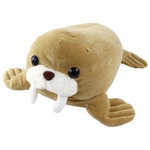 Commercio all'ingrosso Dropshipping libero Squeezable Soft Walrus Squishy Seal Peluche Peluche regalo per Pet Pad bambini su Compleanno Natale