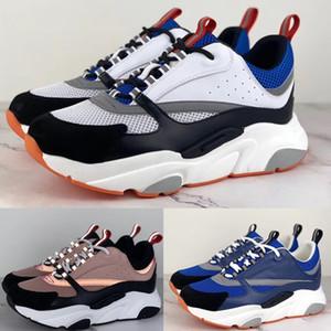 Zapatillas B22 de alta calidad Zapatillas de deporte de piel de becerro de punto técnico para hombres Zapatillas deportivas de lujo Zapatillas deportivas de marca francesa