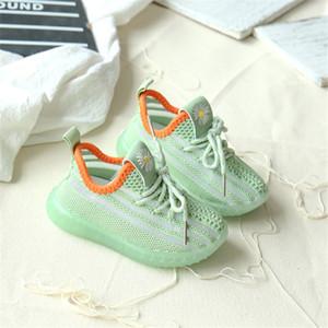 Dimi 2020 Primavera / Outono infantil sapatos macios antiderrapante Baby First Walkers respirável Knitting menina menino da criança calça as sapatilhas Criança