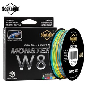 wholesale Monster W8 Multi-Color 8 Strands PE Fishing Line 300M 500M 15 20 30 40 50 80 100LB Smooth Braided Lines Carp Fishing