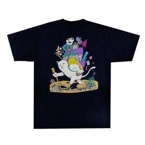 2020 Hip Hop EE.UU. primavera y verano moda Caminante nerm camiseta Monopatín del gato de dibujos animados divertido Mushroom Men diseñador de la camiseta de la calle camiseta de las mujeres