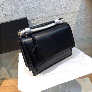 Sunset crossbody çantalar Y Sint L 442906 zincir omuz çantaları altın donanım hakiki deri kadın çanta cüzdan debriyaj çantayı taşımak
