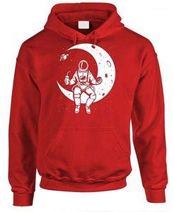 Sweatshirt The Log On To The Moon Print Mens Hoodies Designer O-Neck Long Sleeve Loose Mens
