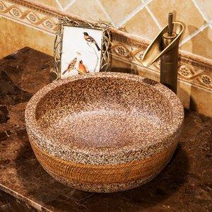 Jingdezhen Bathroom sinks ciotola lavabo lavabo in ceramica Contro parte superiore di ceramica della porcellana Bathroom sink Lavabo