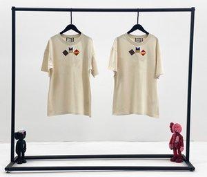 progettista Womens Tee Shirt Designer casuale 2020 Estate manica corta T-shirt Moda di lusso delle donne di alta qualità Carino Splice maglietta Panno