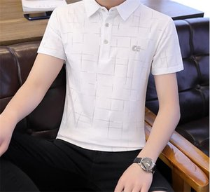 Down Collar Regular Tees Short Sleeve Solid Color Mens Embroidery Print Casual Tops Mens Designer Polos Turn