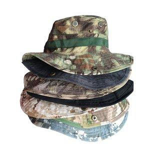 Caza Bonnie Sombrero táctico de Airsoft Camo del camuflaje francotirador de cubo sombreros al aire libre Senderismo Pesca Cap camping