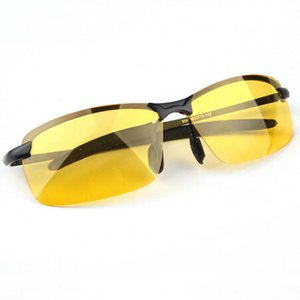 2019 Новое поступление мужские очки Водители автомобилей Очки ночного видения Антибликовый поляризатор Солнцезащитные очки Поляризованные очки для вождения