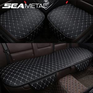 Accessori auto Seat Covers cuoio dell'unità di elaborazione copertura di sede Vetture auto universale interni Cuscino Four Season Proteggere Set Chair Mat