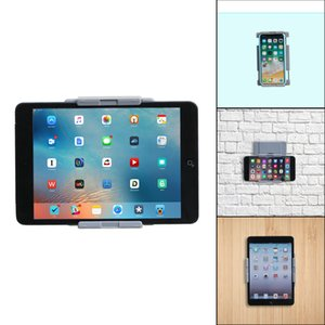 TFY Универсальный Настенный держатель для планшетов и смартфонов, Устанавливается на кухне, ванной, спальни, читальни и многое другое -Грэй