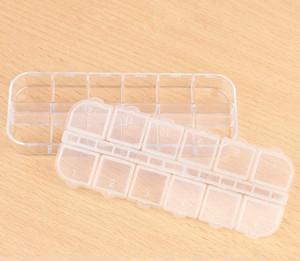 12 Grids Jewelry Tool Box Beads Pills Organizer Nail Art Tip Storage Box Case Health and Beauty Nail Art