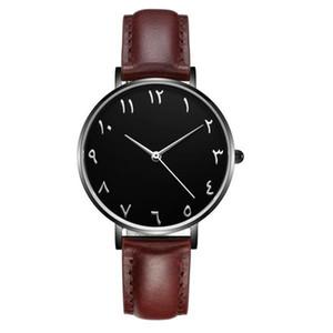 luxury watch 38mm Alloy Case Unisex Classic Arabic Dial Leather strap Luxury women Watches 3 ATM waterproof montre de luxe
