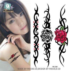Body Art waterproof temporary tattoos for men and women 3d Beautiful bracelet design small arm tattoo sticker wholesale RC2292