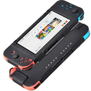 Apto para Nintendo Switch Bag Case Capa Protetora para Nintendo Switch NS NX Caso Capa Controlador Capa Pele De Luxo PU De Couro