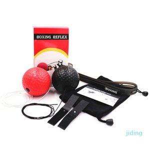 Großhandels-Head-mounted Boxen Kugel Silikon-Stirnband Reaktionsgeschwindigkeit Soft-Double Ball Training Set Stress-Box Muay Thai Übung