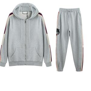Diseñador Hombre Chándal deportivo Otoño Invierno Dos piezas Moda Sportwears Street Style Manga larga y pantalones largos Marca Letras Ropa