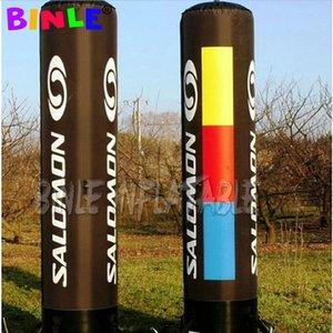 Oxford 2pz colore variabile grande pilastro principale gonfiabile, tubo chiaro cilindro colonna LED gonfiabile con personalizzazione decorazione evento
