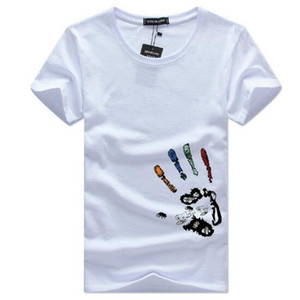 2019 Mens Fashion Tshirt Summer Short Sleeve Round Neck Tee Plus Size Printed Casual Cotton Tshirt with 6 Colors Size S-5XL