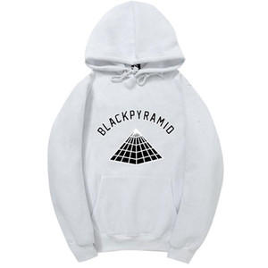 2017 Нового Chris Brown Black Pyramid Hip Hop Толстовка Мужчины и Женщина Толстовка скейтборд Street Style Хлопок Tracksuit Hoodie