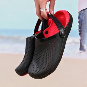 2020 Hommes Sandales Crocks LiteRide trou Chaussures Crok en caoutchouc pour les hommes Sabots EVA unisexe Jardin Chaussures Noir Crocse Adulto Chola Hombre Y200702