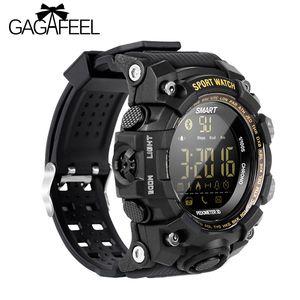Gagafeel Ex16s Bluetooth Montre Smart Watch Militaire Hommes Sportif Montre de Fitness Camouflage Vert Tpu Montre-Bracelet En Plein Air Étanche Horloge Y19051703