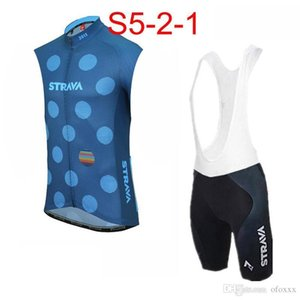 2020 Strava Team Custom Made Cycling Sleeveless Jersey Vest Bib Shorts Sets Summer Men &#039 ;S Comfortable Wearable Outdoor Sports Jersey