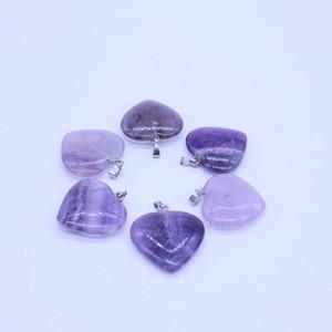 Herz natürliche Steinedelstein-Anhänger poliert lose Korn-Silber überzogener Haken passende Armbänder und Halsketten-Herz-Korn-Schmuck GGA3549-5