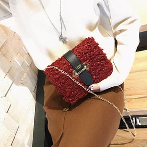 Free2019 Winter Real Baby Hit Color Donna Joker Belt Single Shoulder Piccolo pacchetto quadrato